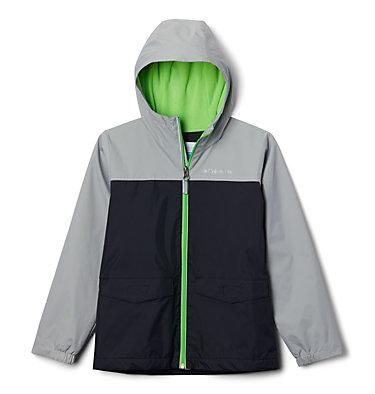 Boys' Rain-Zilla™ Jacket Rain-Zilla™ Jacket | 016 | L, Black, Columbia Grey, front