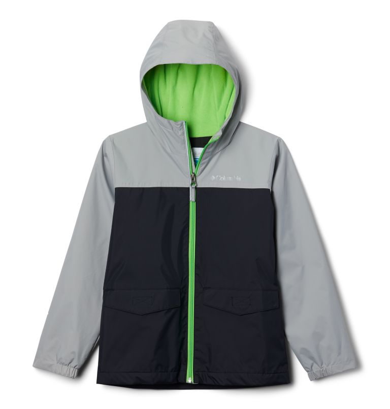 Rain-Zilla™ Jacket | 016 | M Boys' Rain-Zilla™ Jacket, Black, Columbia Grey, front
