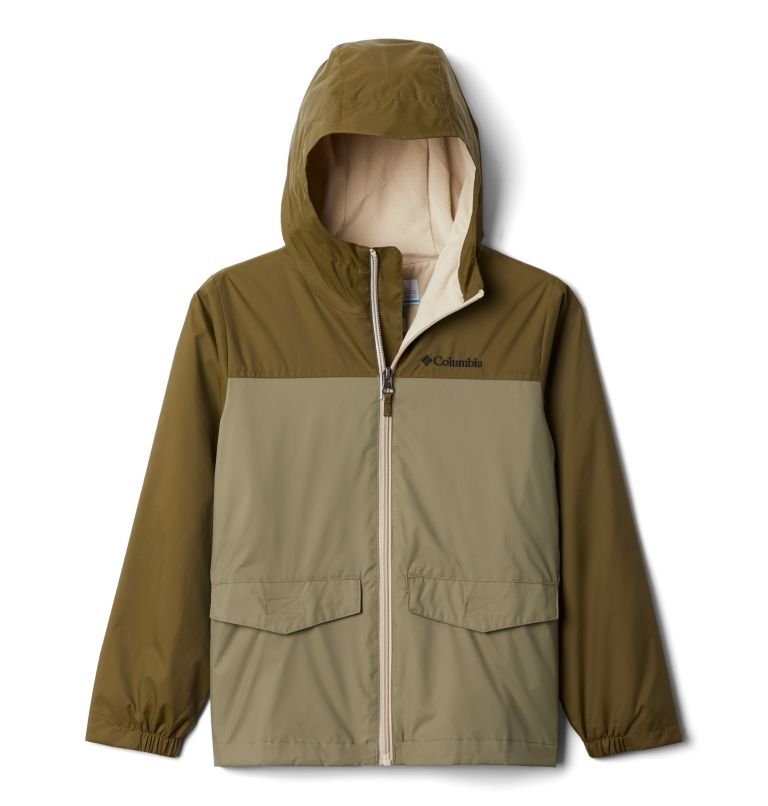 Rain-Zilla™ Jacket | 328 | M Boys' Rain-Zilla™ Jacket, New Olive, Stone Green, front