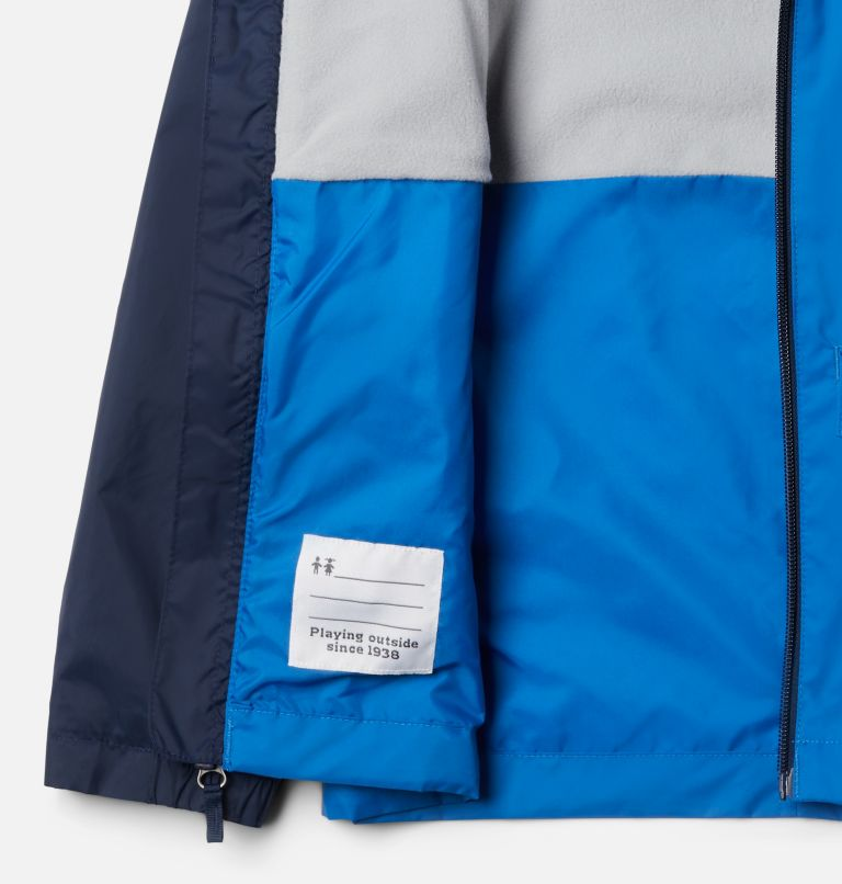 Rain-Zilla™ Jacket | 432 | S Boys' Rain-Zilla™ Jacket, Bright Indigo, Collegiate Navy, a1
