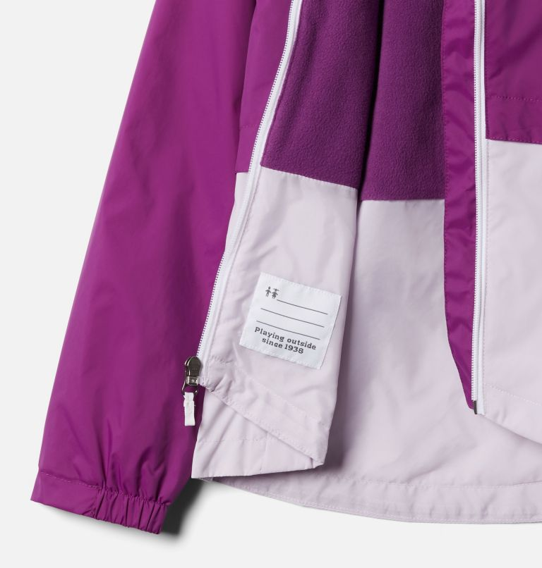 Rain-Zilla™ Jacket | 575 | L Girls' Rain-Zilla™ Jacket, Plum, Pale Lilac, a1