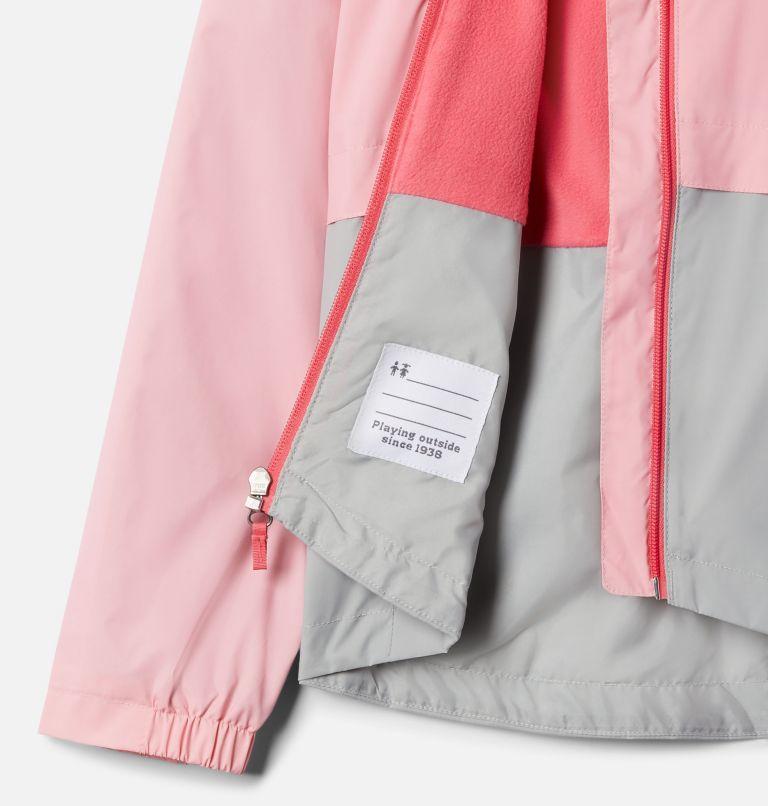 Rain-Zilla™ Jacket | 689 | XS Girls' Rain-Zilla™ Jacket, Pink Orchid, Columbia Grey, a1