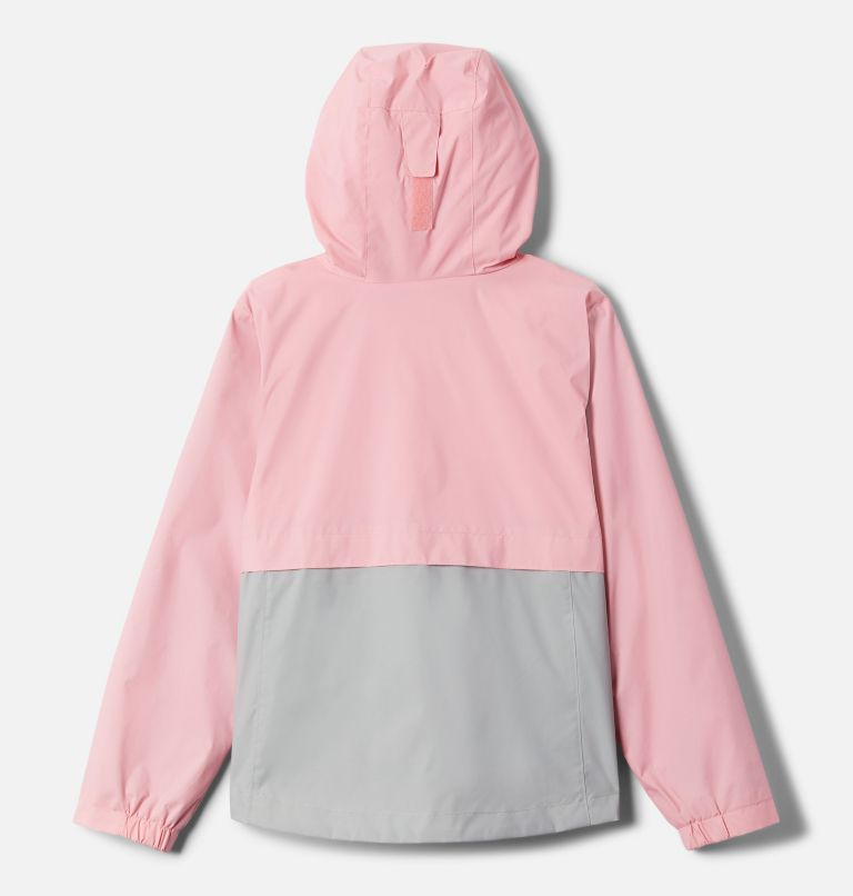 Rain-Zilla™ Jacket | 689 | XS Girls' Rain-Zilla™ Jacket, Pink Orchid, Columbia Grey, back