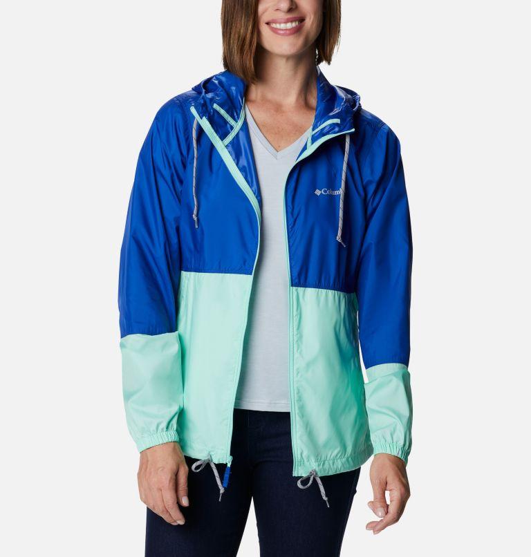 Flash Forward™ Windbreaker | 410 | S Women's Flash Forward™ Windbreaker Jacket, Lapis Blue, Mint Cay, front