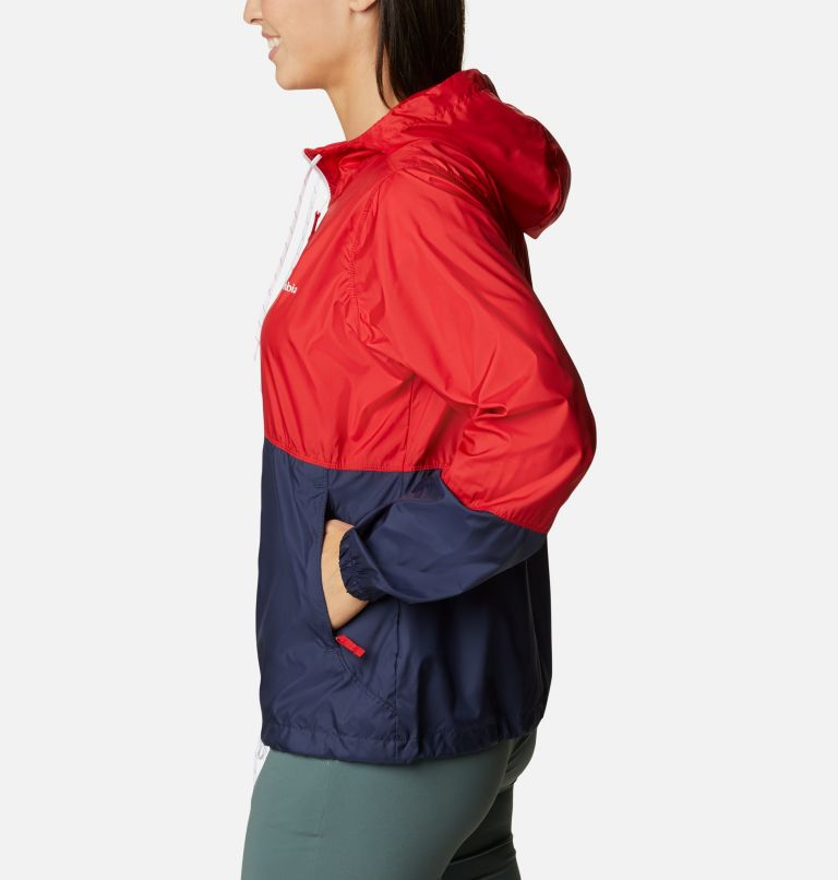 Flash Forward™ Windbreaker | 691 | L Women's Flash Forward™ Windbreaker Jacket, Bright Red, Nocturnal, White, a1