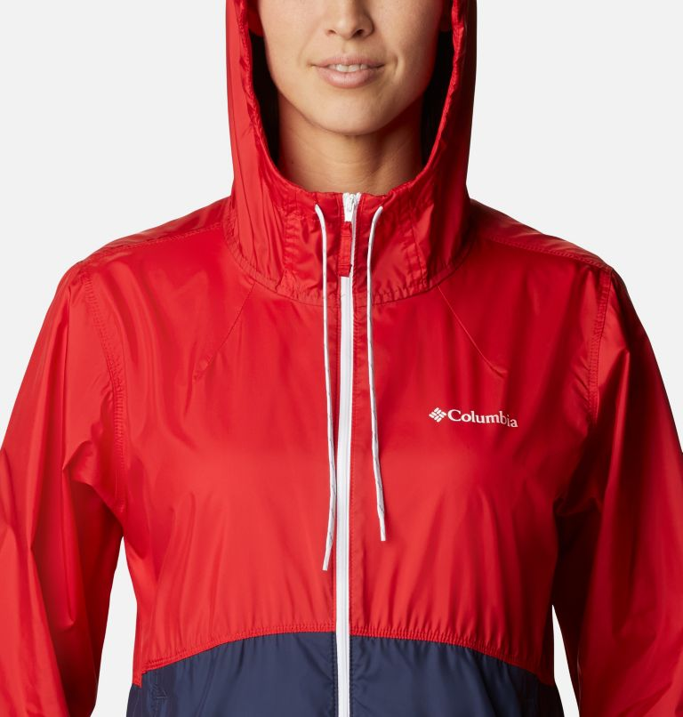 Flash Forward™ Windbreaker | 691 | S Women's Flash Forward™ Windbreaker Jacket, Bright Red, Nocturnal, White, a2