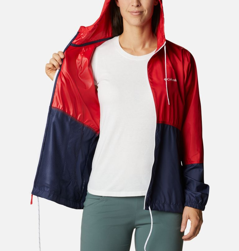Flash Forward™ Windbreaker | 691 | L Women's Flash Forward™ Windbreaker Jacket, Bright Red, Nocturnal, White, a3