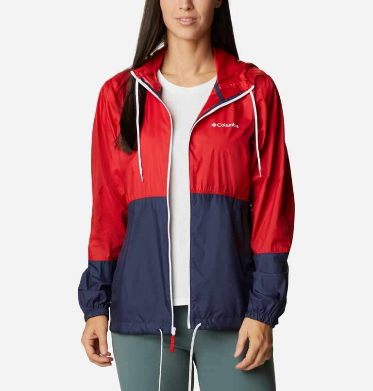 Flash Forward™ Windbreaker | 691 | L Women's Flash Forward™ Windbreaker Jacket, Bright Red, Nocturnal, White, a4