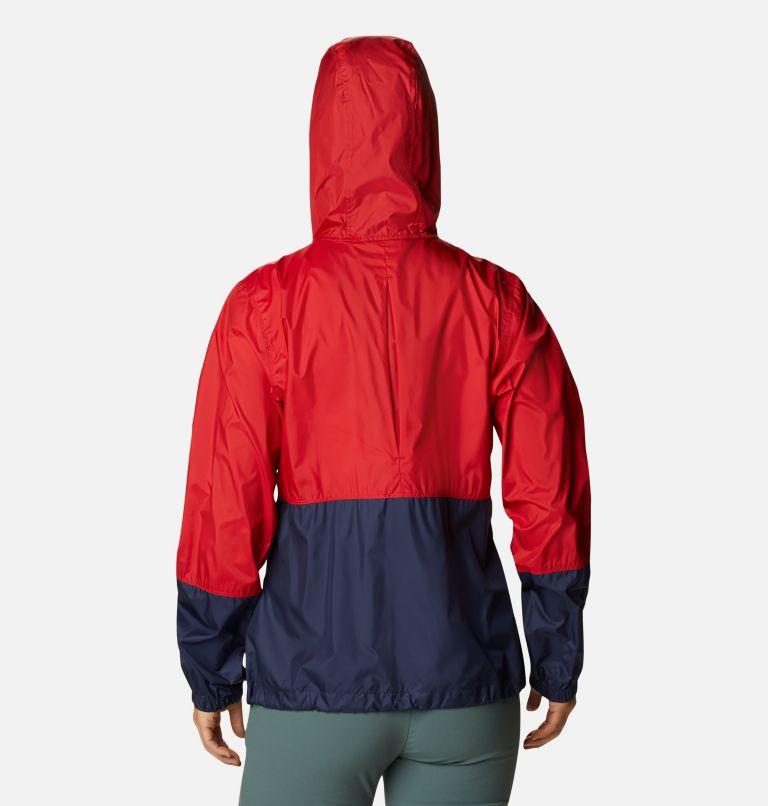 Flash Forward™ Windbreaker | 691 | S Women's Flash Forward™ Windbreaker Jacket, Bright Red, Nocturnal, White, back