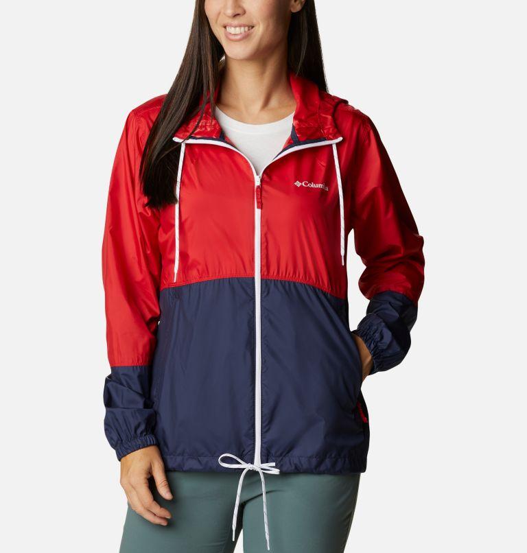 Flash Forward™ Windbreaker | 691 | S Women's Flash Forward™ Windbreaker Jacket, Bright Red, Nocturnal, White, front