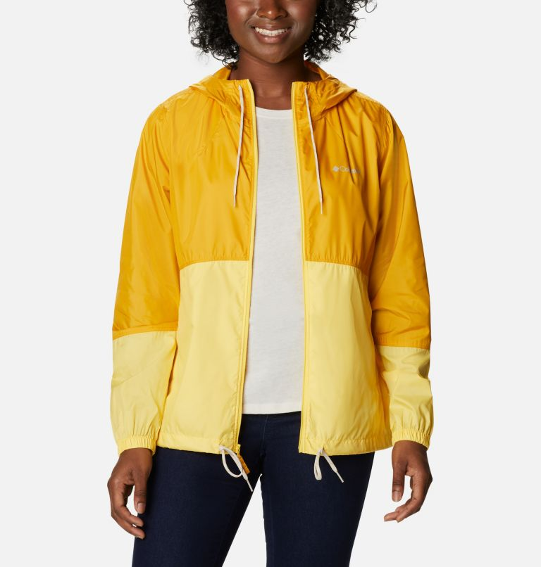Flash Forward™ Windbreaker | 790 | L Women's Flash Forward™ Windbreaker Jacket, Bright Gold, Sun Glow, front