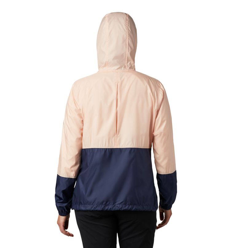 Flash Forward™ Windbreaker | 870 | XS Women's Flash Forward™ Windbreaker Jacket, Peach Cloud, Nocturnal, back