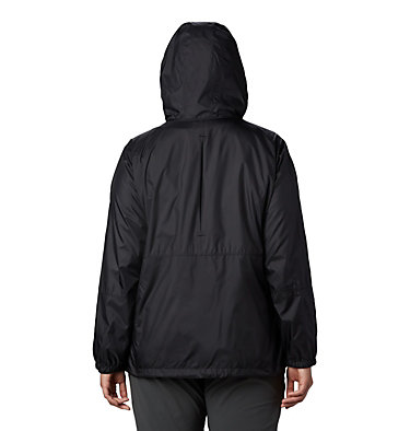 Women's Flash Forward™ Windbreaker Jacket - Plus Size Flash Forward™ Windbreaker | 467 | 1X, Black, back