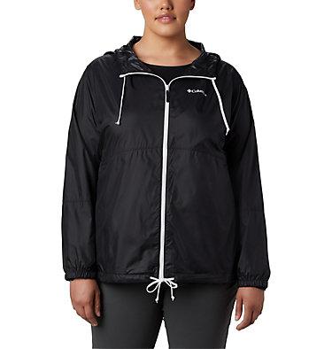 Women's Flash Forward™ Windbreaker Jacket - Plus Size Flash Forward™ Windbreaker | 467 | 1X, Black, front