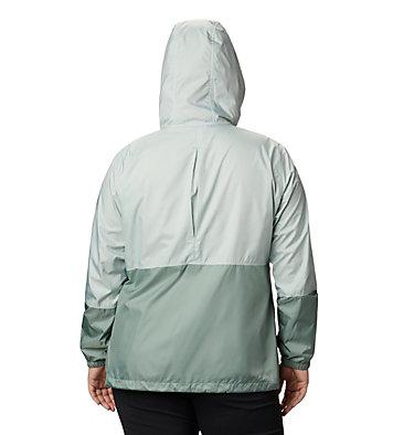 Women's Flash Forward™ Windbreaker Jacket - Plus Size Flash Forward™ Windbreaker | 467 | 1X, Cool Green, Light Lichen, back