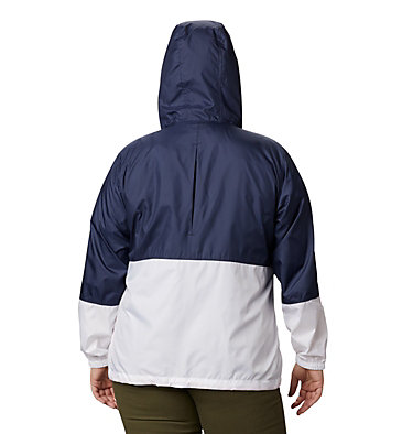 Women's Flash Forward™ Windbreaker Jacket - Plus Size Flash Forward™ Windbreaker | 467 | 1X, Nocturnal, White, back