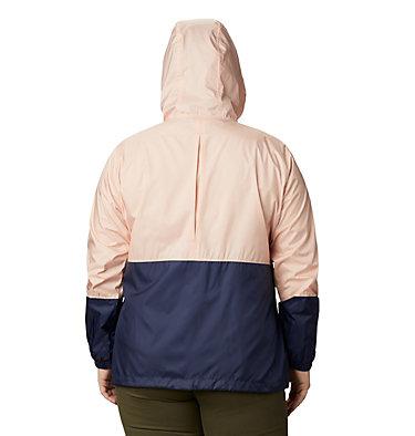 Women's Flash Forward™ Windbreaker Jacket - Plus Size Flash Forward™ Windbreaker | 467 | 1X, Peach Cloud, Nocturnal, back