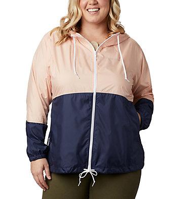 Women's Flash Forward™ Windbreaker Jacket - Plus Size Flash Forward™ Windbreaker | 467 | 1X, Peach Cloud, Nocturnal, front