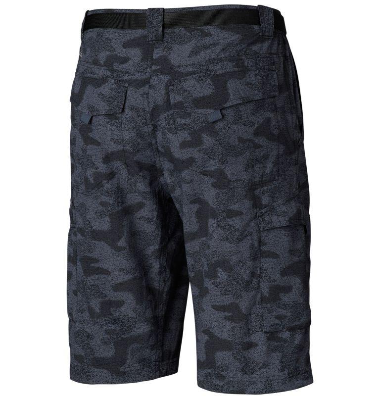 Silver Ridge™ Printed Cargo Sh | 012 | 34 Men's Silver Ridge™ Printed Cargo Shorts, Black Heather Camo Print, back