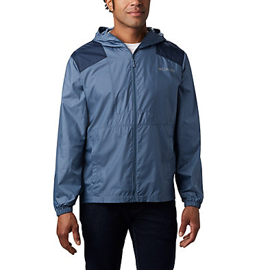 Men's Flashback™ Windbreaker Jacket Flashback™ Windbreaker | 442 | L, Mountain, Collegiate Navy, front