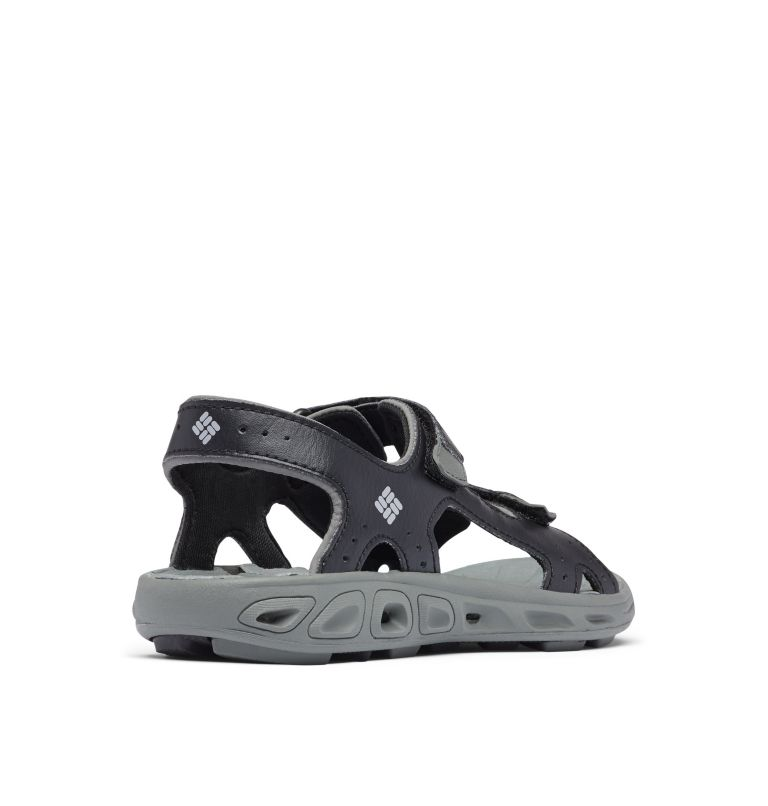 YOUTH TECHSUN™ VENT | 010 | 4 Youth Techsun™ Vent Sandal, Black, Columbia Grey, 3/4 back