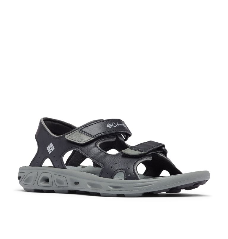 YOUTH TECHSUN™ VENT | 010 | 4 Youth Techsun™ Vent Sandal, Black, Columbia Grey, 3/4 front