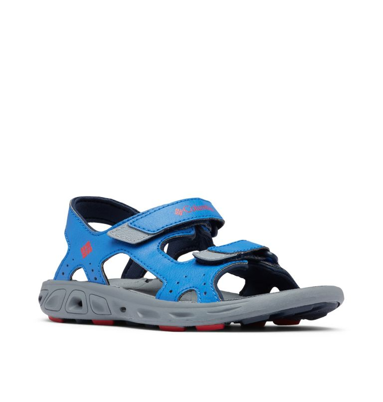 YOUTH TECHSUN™ VENT | 426 | 4 Youth Techsun™ Vent Sandal, Stormy Blue, Mountain Red, 3/4 front