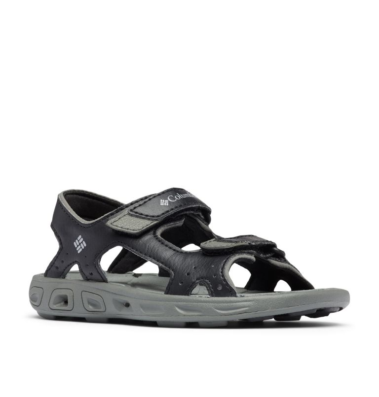 CHILDRENS TECHSUN™ VENT | 010 | 10 Kids' Techsun™ Vent Sandal, Black, Columbia Grey, 3/4 front