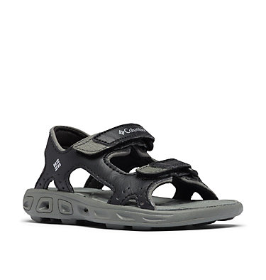Toddler Techsun™ Vent Ankle Strap Sandal TODDLER TECHSUN™ VENT | 426 | 4, Black, Columbia Grey, 3/4 front