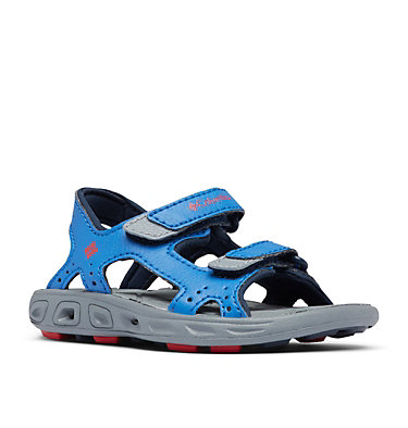 Toddler Techsun™ Vent Ankle Strap Sandal TODDLER TECHSUN™ VENT | 426 | 4, Stormy Blue, Mountain Red, 3/4 front