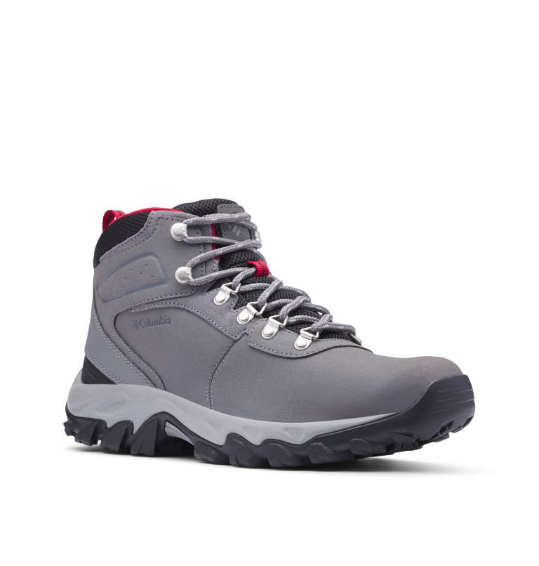 NEWTON RIDGE™ PLUS II WATERPROOF | 038 | 8.5 Men's Newton Ridge™ Plus II Waterproof Hiking Boot, Ti Grey Steel, Rocket, 3/4 front