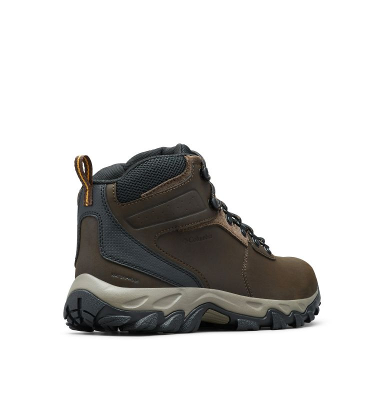 NEWTON RIDGE™ PLUS II WATERPROOF | 231 | 7 Men's Newton Ridge™ Plus II Waterproof Hiking Boot, Cordovan, Squash, 3/4 back