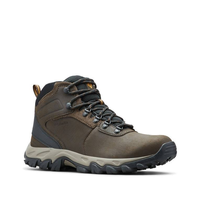 NEWTON RIDGE™ PLUS II WATERPROOF | 231 | 7 Men's Newton Ridge™ Plus II Waterproof Hiking Boot, Cordovan, Squash, 3/4 front