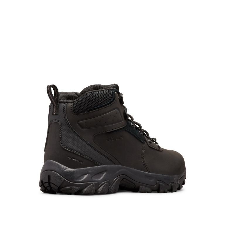 NEWTON RIDGE™ PLUS II WATERPROOF WIDE | 011 | 9 Men's Newton Ridge™ Plus II Waterproof Hiking Boot - Wide, Black, Black, 3/4 back