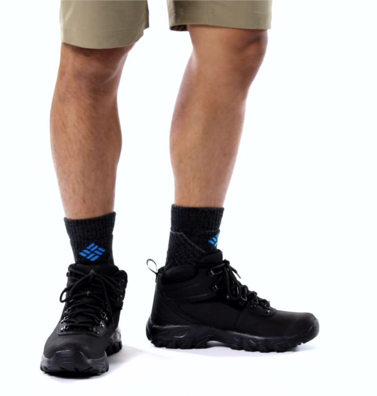NEWTON RIDGE™ PLUS II WATERPROOF WIDE | 011 | 9.5 Men's Newton Ridge™ Plus II Waterproof Hiking Boot - Wide, Black, Black, video