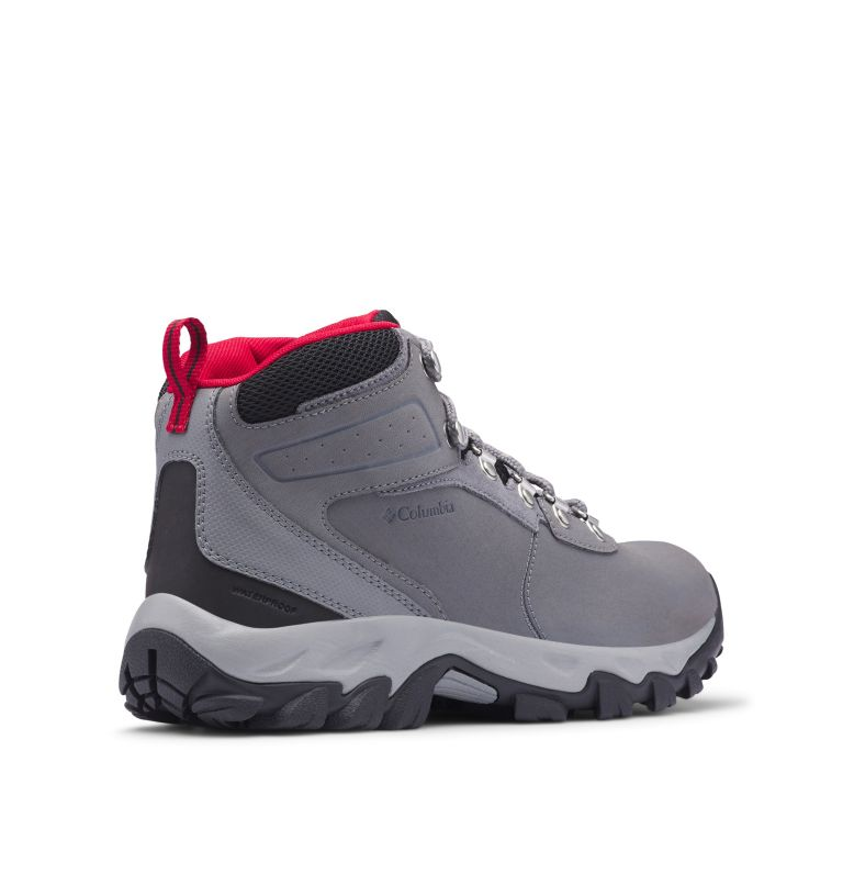 NEWTON RIDGE™ PLUS II WATERPROOF WIDE | 038 | 9 Men's Newton Ridge™ Plus II Waterproof Hiking Boot - Wide, Ti Grey Steel, Rocket, 3/4 back
