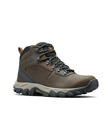 Men's Newton Ridge™ Plus II Waterproof Hiking Boot - Wide NEWTON RIDGE™ PLUS II WATERPROOF WIDE | 234 | 10, Cordovan, Squash, 3/4 front