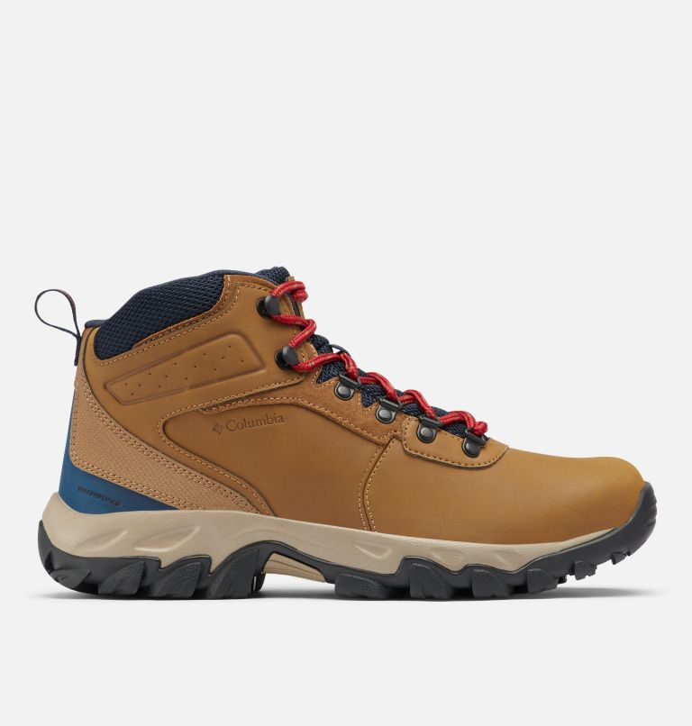 NEWTON RIDGE™ PLUS II WATERPROOF WIDE | 234 | 10.5 Men's Newton Ridge™ Plus II Waterproof Hiking Boot - Wide, Light Brown, Red Velvet, front