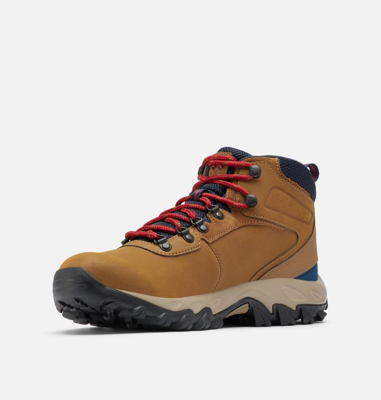 NEWTON RIDGE™ PLUS II WATERPROOF WIDE | 234 | 10.5 Men's Newton Ridge™ Plus II Waterproof Hiking Boot - Wide, Light Brown, Red Velvet
