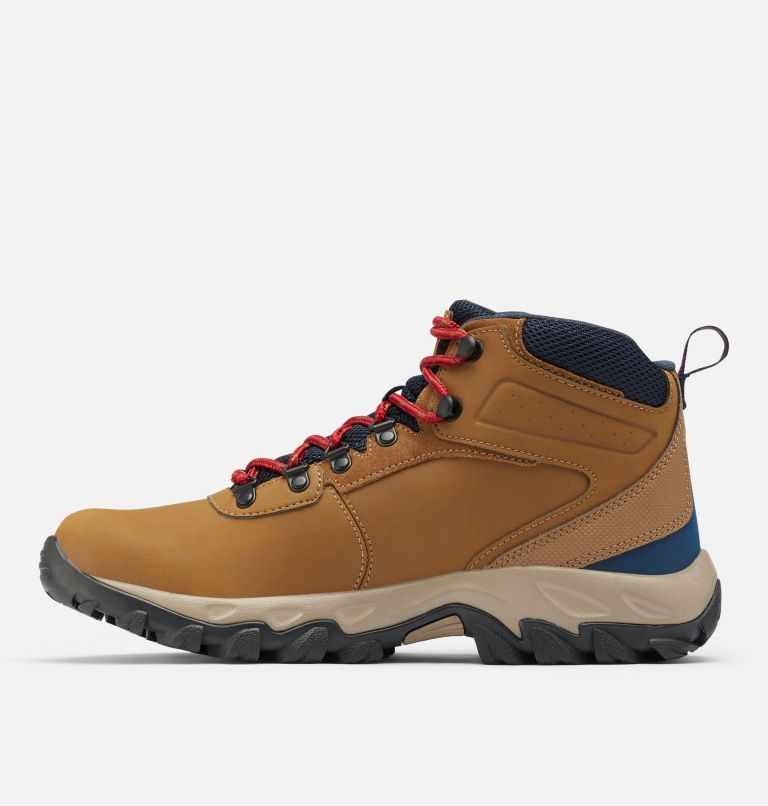 NEWTON RIDGE™ PLUS II WATERPROOF WIDE | 234 | 10.5 Men's Newton Ridge™ Plus II Waterproof Hiking Boot - Wide, Light Brown, Red Velvet, medial