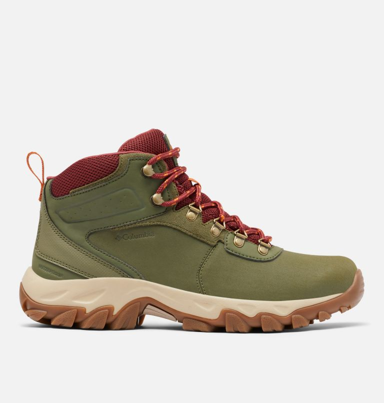 NEWTON RIDGE™ PLUS II WATERPROOF WIDE | 371 | 9 Men's Newton Ridge™ Plus II Waterproof Hiking Boot - Wide, Hiker Green, Marsala Red, front