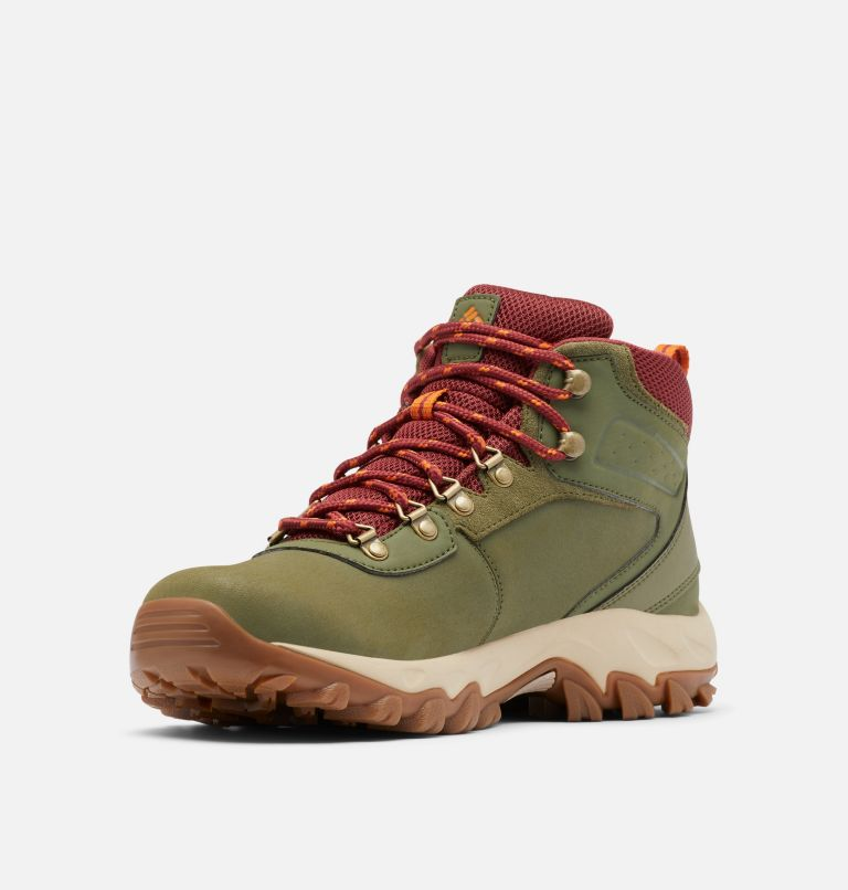 NEWTON RIDGE™ PLUS II WATERPROOF WIDE | 371 | 9 Men's Newton Ridge™ Plus II Waterproof Hiking Boot - Wide, Hiker Green, Marsala Red