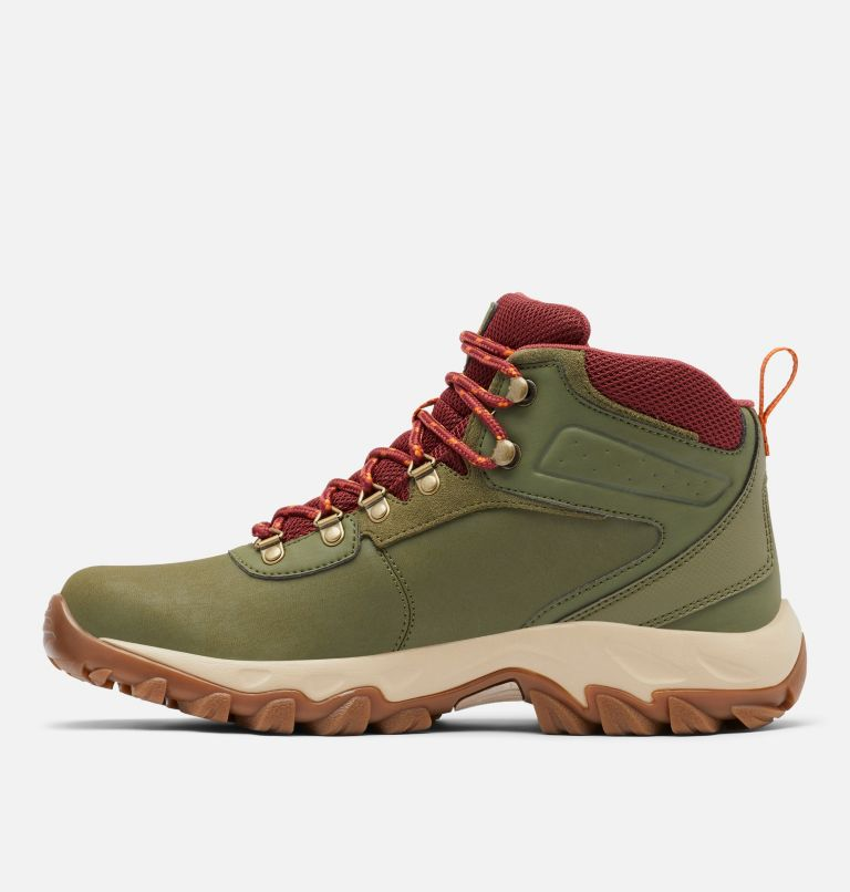 NEWTON RIDGE™ PLUS II WATERPROOF WIDE | 371 | 9 Men's Newton Ridge™ Plus II Waterproof Hiking Boot - Wide, Hiker Green, Marsala Red, medial