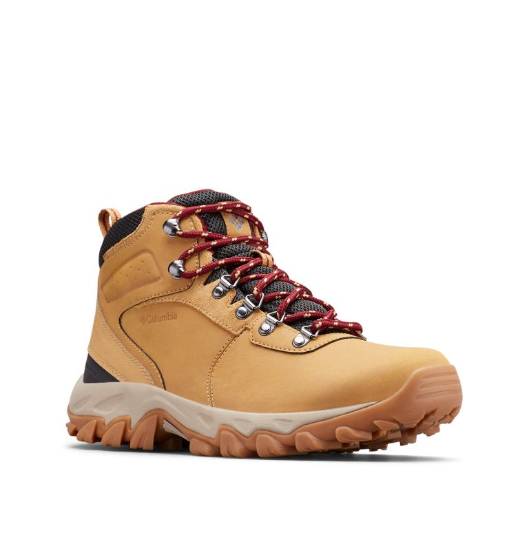 NEWTON RIDGE™ PLUS II WATERPROOF WIDE | 373 | 7.5 Men's Newton Ridge™ Plus II Waterproof Hiking Boot - Wide, Curry, Red Jasper, 3/4 front