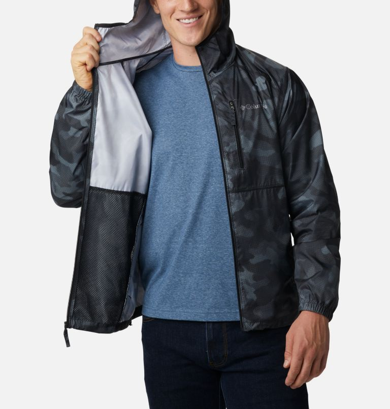 Flash Forward™ Windbreaker Print | 007 | S Men's Flash Forward™ Windbreaker Print Jacket, Black Spotted Camo, a3