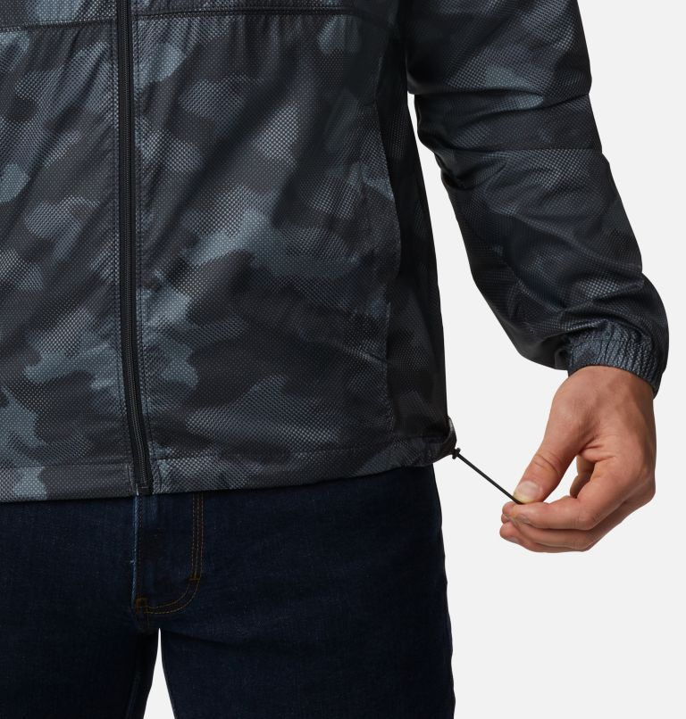 Flash Forward™ Windbreaker Print | 007 | S Men's Flash Forward™ Windbreaker Print Jacket, Black Spotted Camo, a4