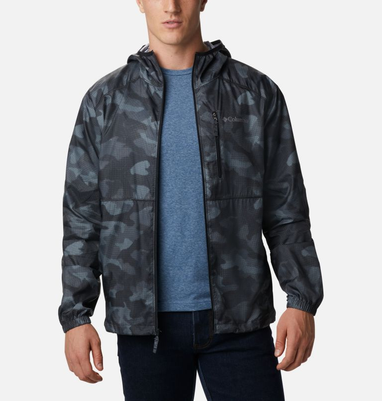 Flash Forward™ Windbreaker Print | 007 | S Men's Flash Forward™ Windbreaker Print Jacket, Black Spotted Camo, front