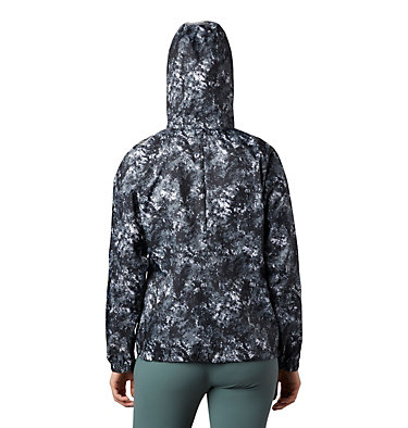 Women's Flash Forward™ Printed Windbreaker Jacket Flash Forward™ Printed Windbreaker | 490 | M, Black Rubbed Texture, back
