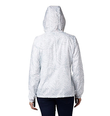Women's Flash Forward™ Printed Windbreaker Jacket Flash Forward™ Printed Windbreaker | 490 | M, Cirrus Grey Wispy Bamboo, back