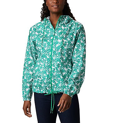 Cortavientos estampado Flash Forward™ para mujer Flash Forward™ Printed Windbre | 630 | S, Dark Lime Polkadot Floral, front